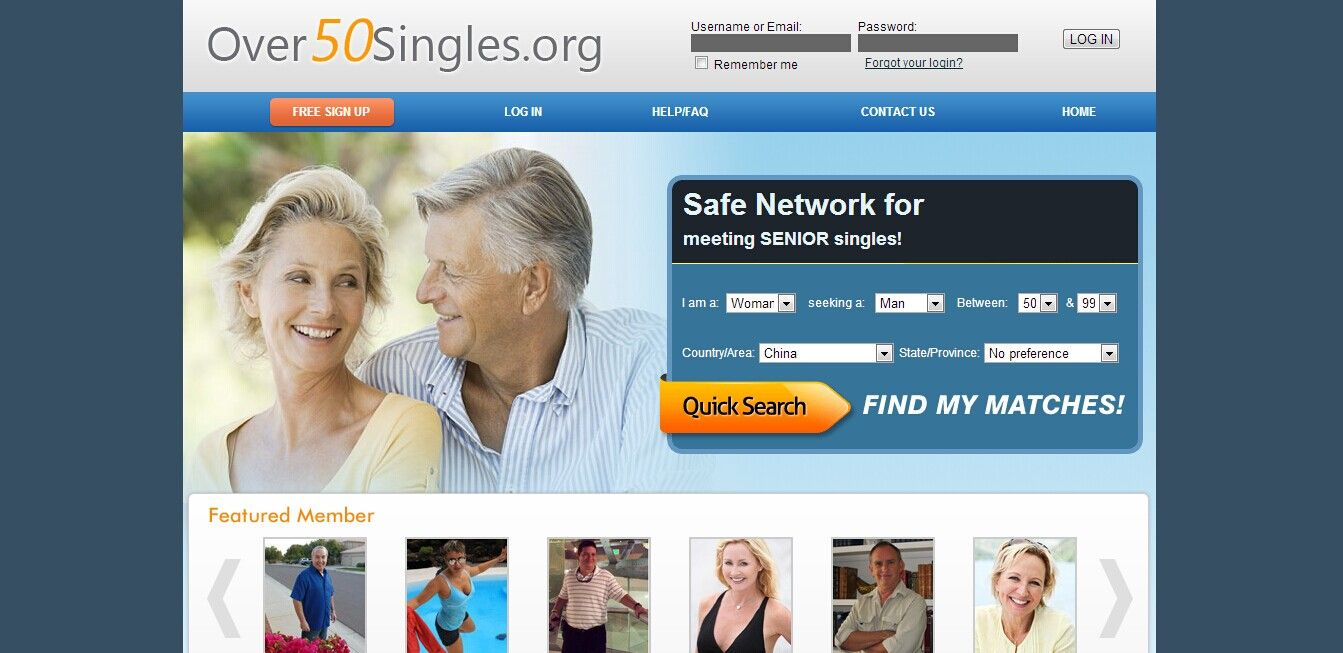 Free over 50 dating websites