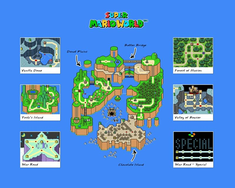 Pin by Aiden Lesanto on Video Game Maps   Super mario games, Super ...