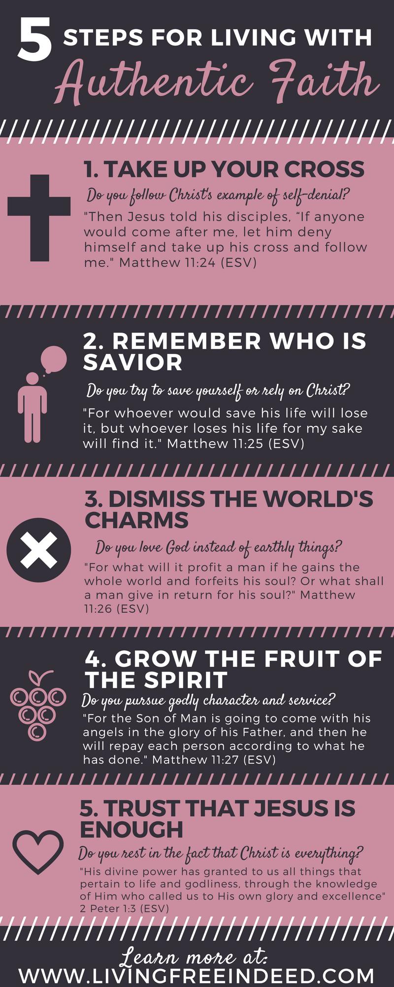 5 Steps for Living with Authentic Faith | Faith, Christian and Bible