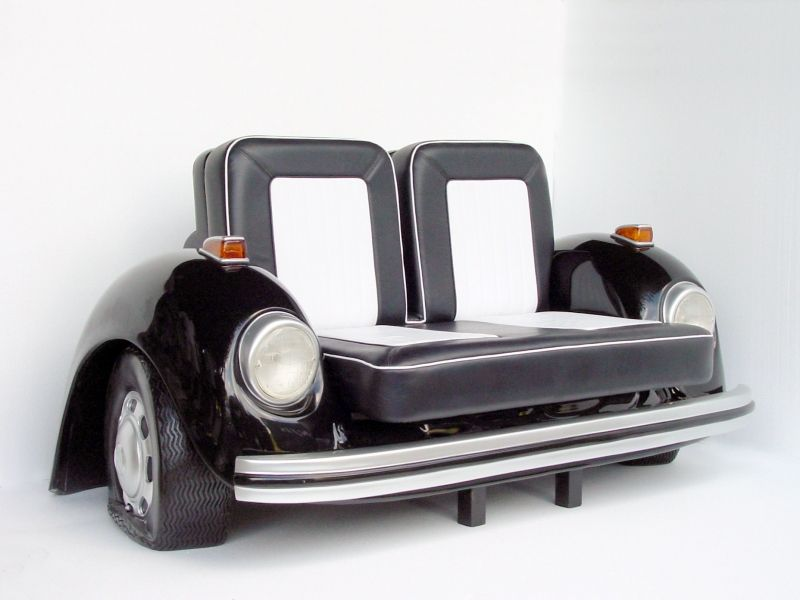 Weird Couches pop art decoration - furniture - sofas - volkswagen beetle car