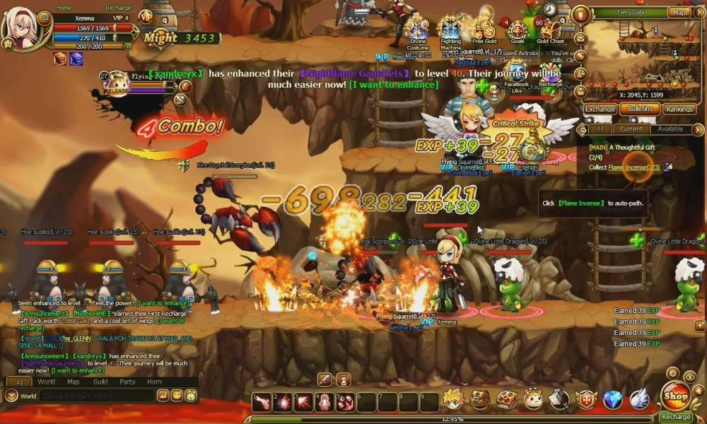 Lunaria Story Is A Browser Based Social Game 2d Side Scrolling Massively Multiplayer Online Role Playing Real Time Strategy Game Mmo Games Real Time Strategy