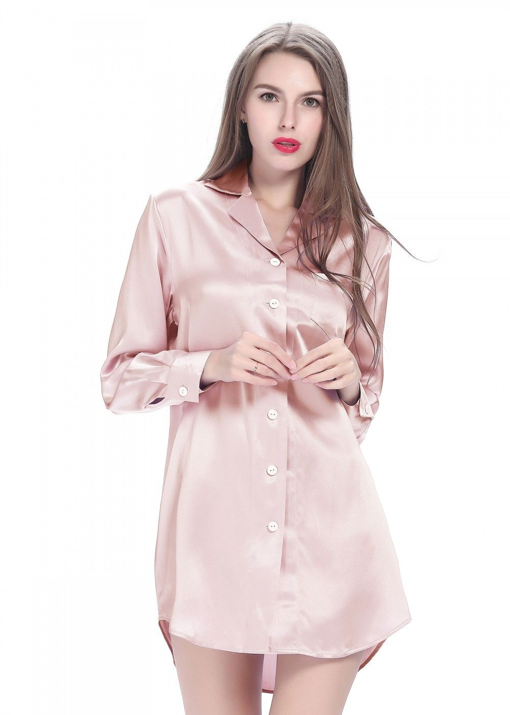 long silk dress casual