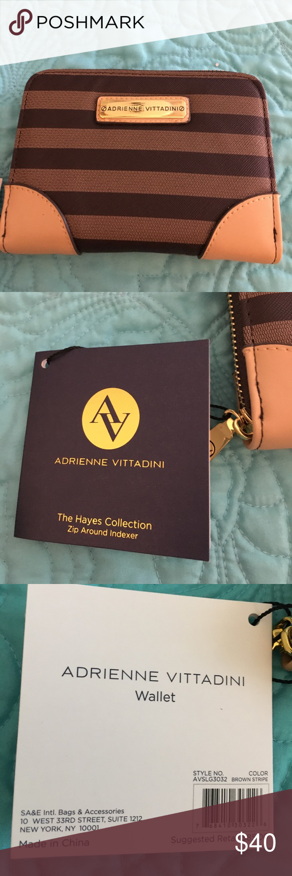 NWT Adrienne Vittadini Hayes Collection Wallet   Wallet, Adrienne ...