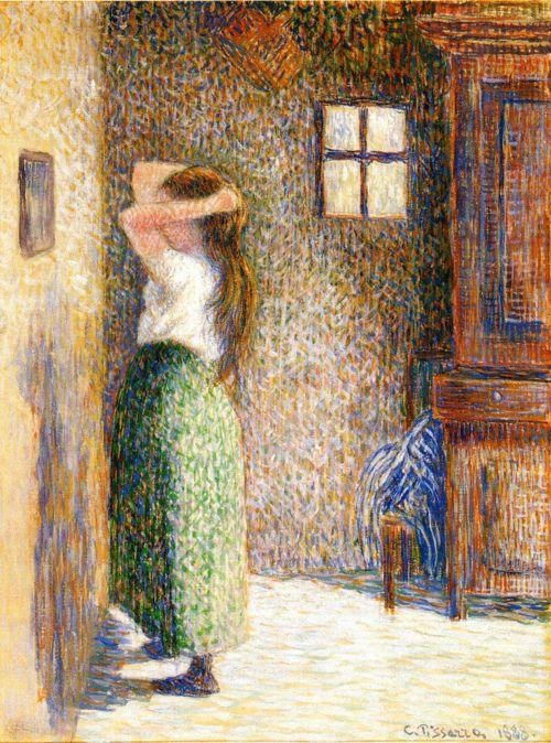 Camille Pissaro - Jeune paysanne à la toilette (1888) ▓█▓▒░▒▓█▓▒░▒▓█▓▒░▒▓█▓ Gᴀʙʏ﹣Fᴇ́ᴇʀɪᴇ ﹕ Bɪᴊᴏᴜx ᴀ̀ ᴛʜᴇ̀ᴍᴇs ☞ http://www.alittlemarket.com/boutique/gaby_feerie-132444.html ▓█▓▒░▒▓█▓▒░▒▓█▓▒░▒▓█▓