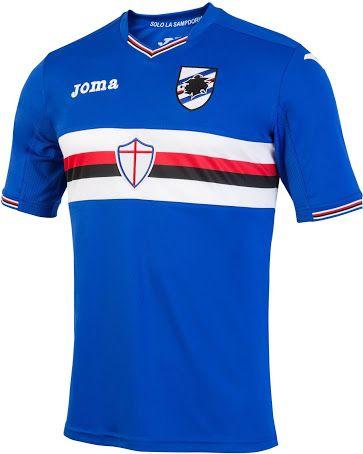 Sampdoria 16 17 Home And Away Kits Released Camisas De Futebol Camisas De Times Camisa