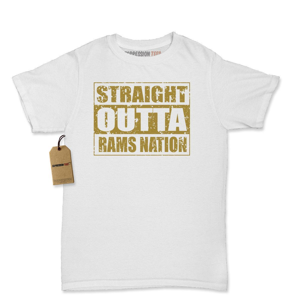 Straight Outta Rams Nation Football Womens T-shirt