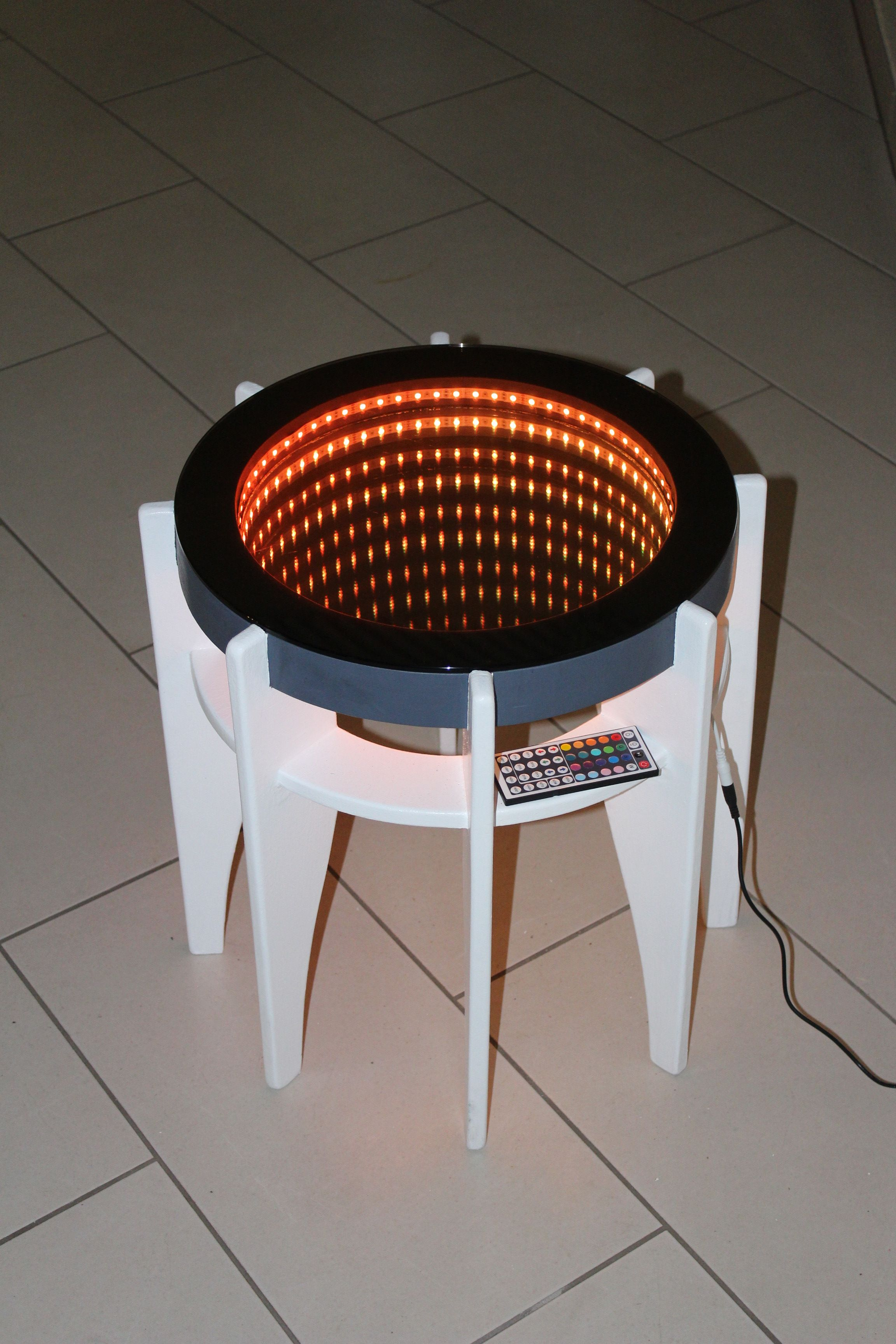 A Smaller Table With Rgb Led Strip Table Design By Jaanus Hiis  # Table Tele Lcd Et Led En Bois