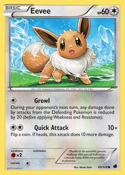 Eevee Pokedex Pokemon Pokemon Tcg Pokemon Cards