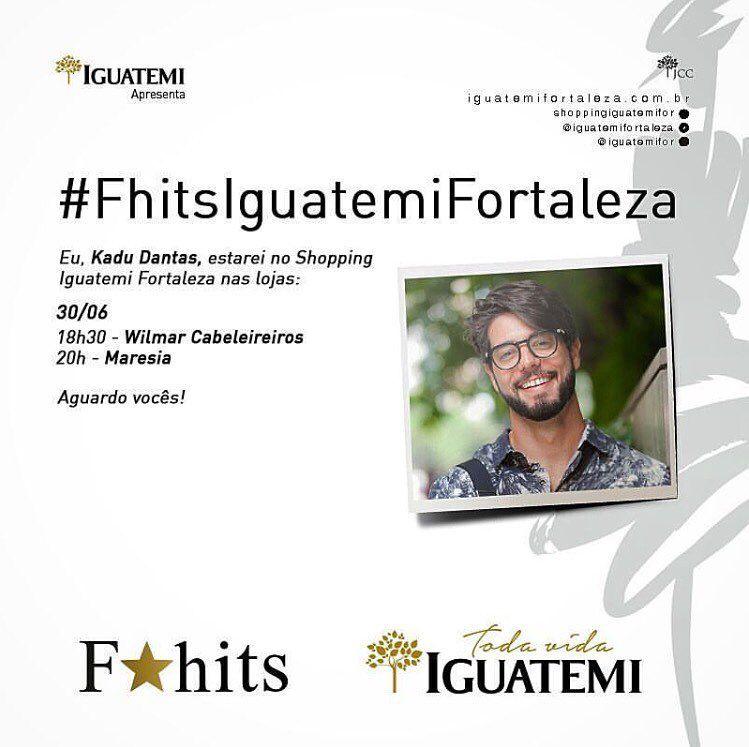 E amanhã no quarto dia do Fhits Fashion Day o nosso encontro já está marcado com o meu querido Fhits influencer @kadudantas a partir de 18h30 no @iguatemifortaleza! Imperdível!  #FhitsFashionDay #FhitsIguatemiFortaleza