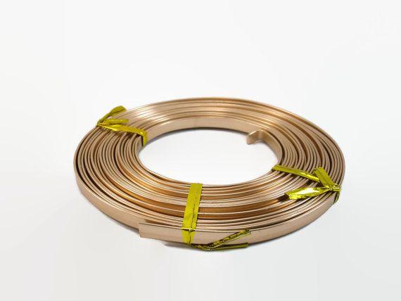 Light Copper Flat Aluminum Wire, 5 x 1 mm Flat Premium Wire, 5 ...