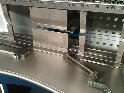 Sheet Metal Chassis Flat And Bent With The Tooling Setup Needed To Produce The Component All Through One Bending Sequence On A Trumpf 7036 Cnc Press Brake Dobra