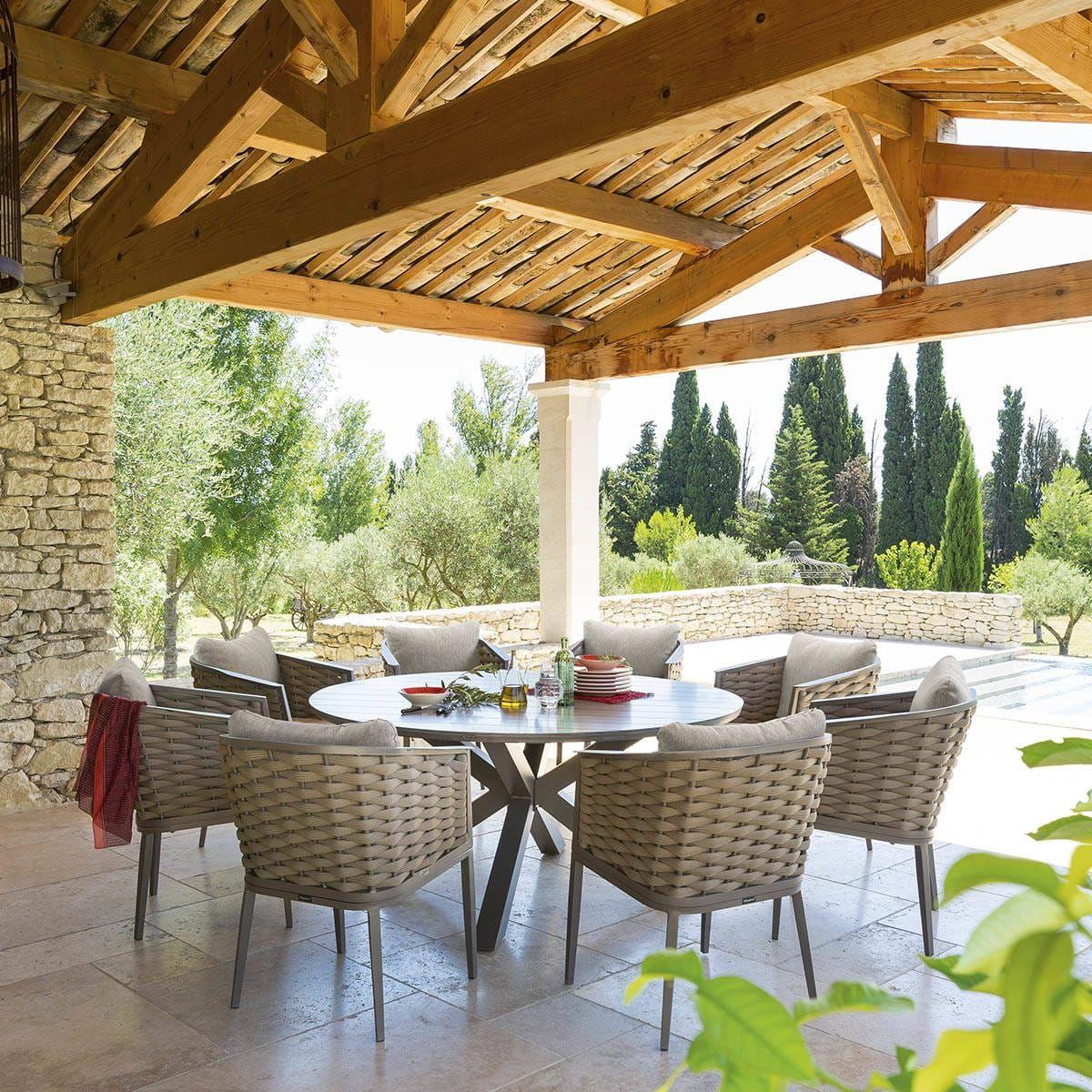 Avec la table ronde de jardin Embruns d\'Hespéride vous ...