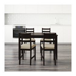 ac803e81faf12 LERHAMN Table and 4 chairs