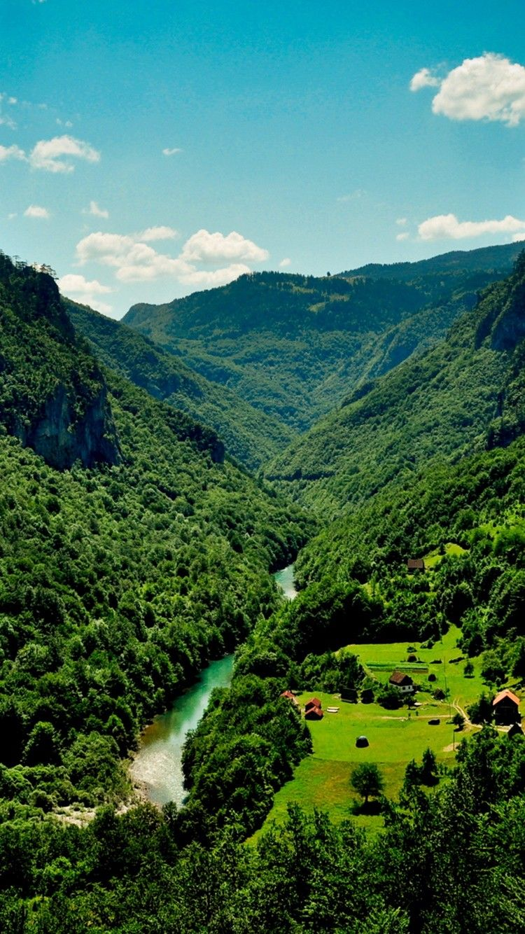 Small Mountain Village River Wallpaper Iphone 6 Wallpaper Wallpaper Mountain Village
