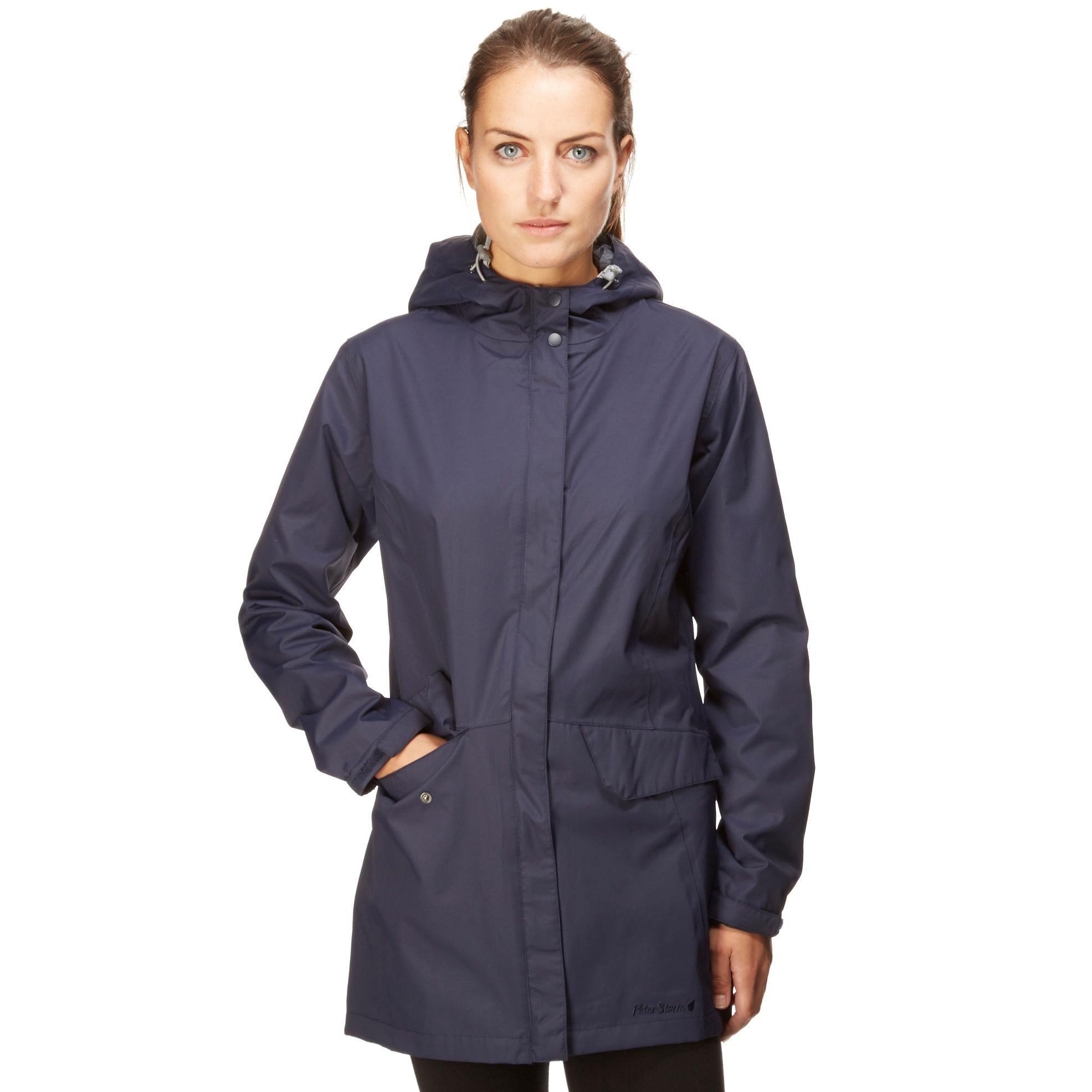 Womens Navy Waterproof Jacket - JacketIn