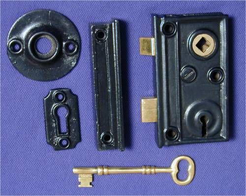 cast iron rim locks