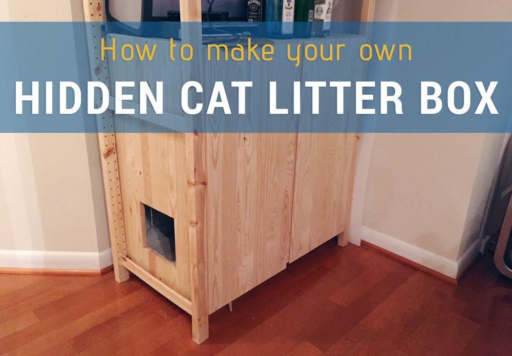 How To Hidden Cat Litter Box With Images Litter Box Cat