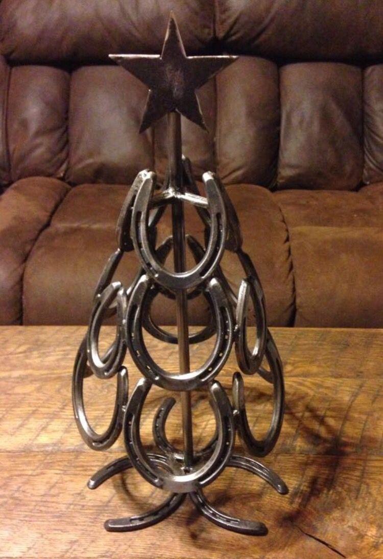 Horse Shoe Made Tree Etc Horseshoe Decor Horseshoe Christmas Tree
