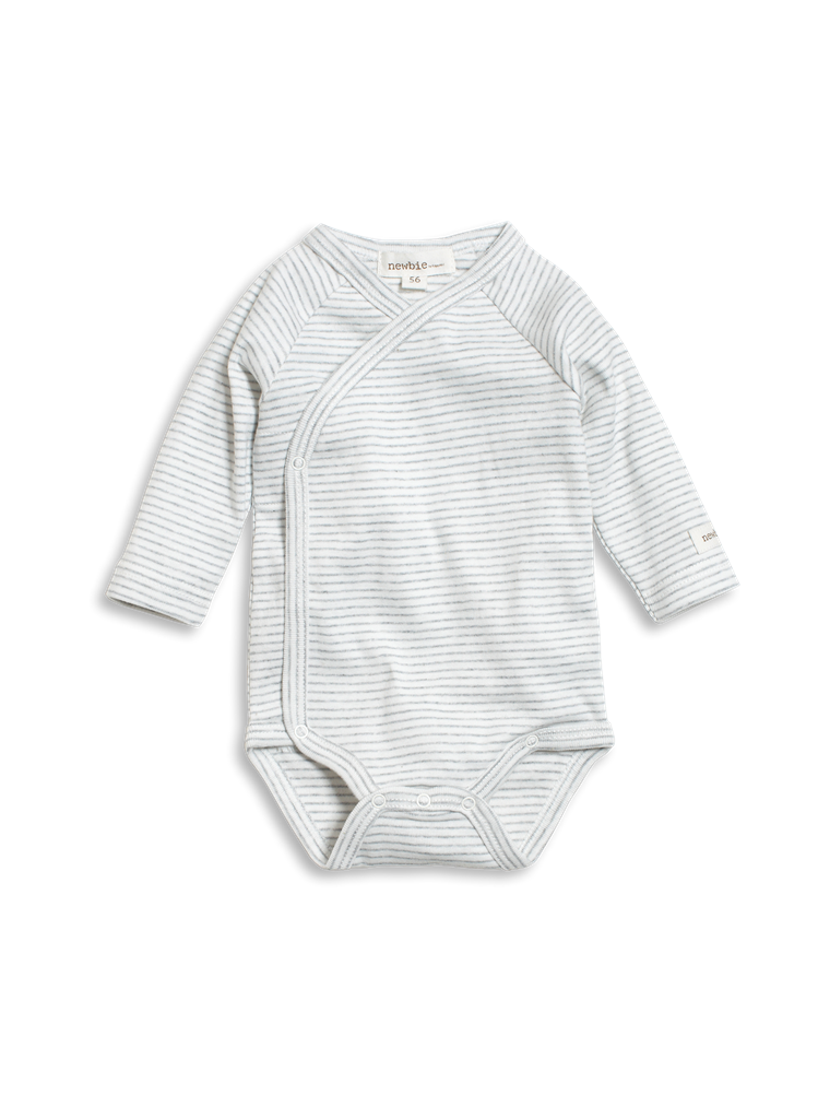 484e3b50c51e Soft and cosy striped baby body with long sleeves. Wrap design with buttons  makes for quick and easy dressing. ### Button fastening 100% Organic Cotton  GOTS ...