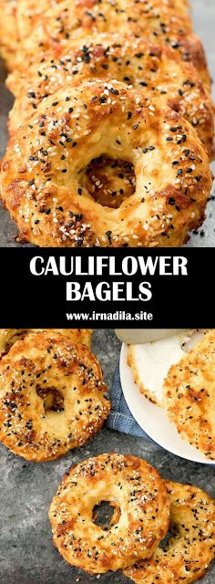 Cauliflower Bagels Low Carb Keto Gluten Free Low Carb Bagels