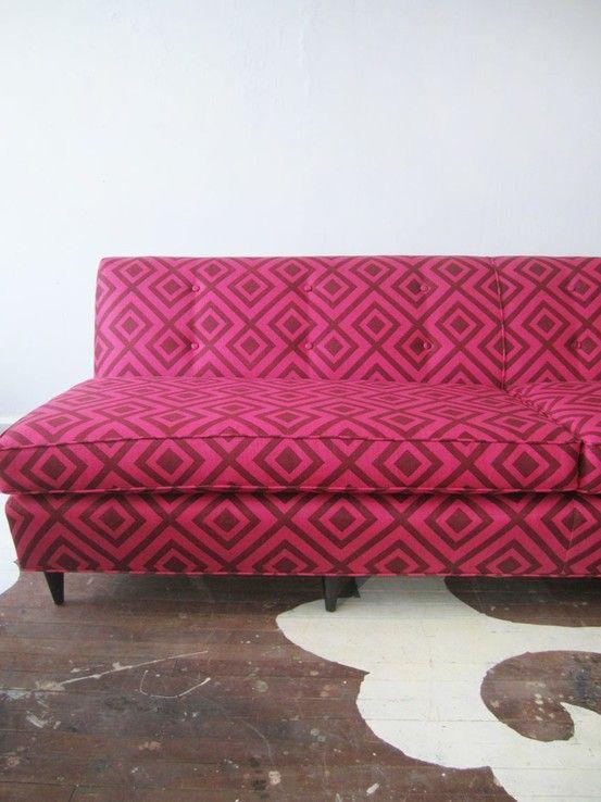 We just redid this gorgeous Danish Modern sofa in Lee Jofa\'s La ...