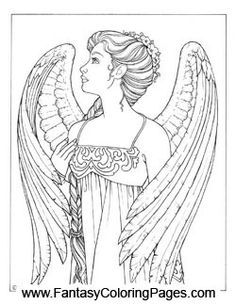 Free Printable Angels Coloring Pages For Adults