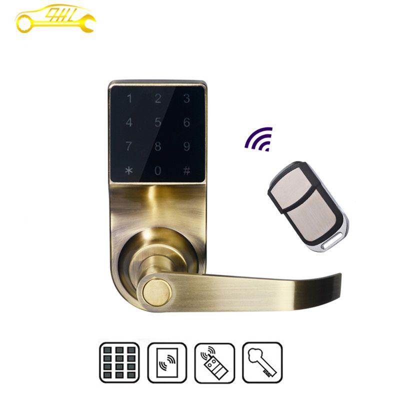 smart keypad digital code induction door lock digital hotel lock home lock  - Smart locks - Shenzhen Qian… | Smart door locks, Apartment door locks,  Remote door lock