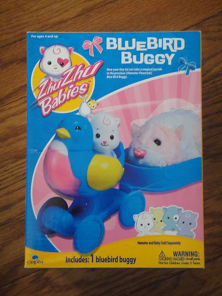 Details About Zhu Zhu Pets Babies Blue Bird Buggy New In Box Blue Bird Baby Hamster Cool Toys