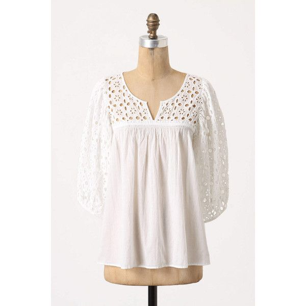 Immense Eyelet Blouse, found on polyvore.com