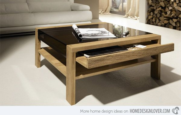 15 Modern Center Tables Made From Wood Home Design Lover Coffee Table Adjustable Height Coffee Table Living Room Coffee Table