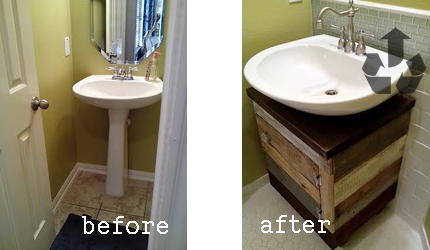 Before And Afters Diy Bathroom Vanity Pedestal Sink Bathroom