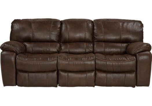 Cindy Crawford Home Alpen Ridge Brown Reclining Sofa
