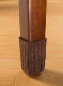 Small Chocolate Brown Chair Leg Floor Protector Pads
