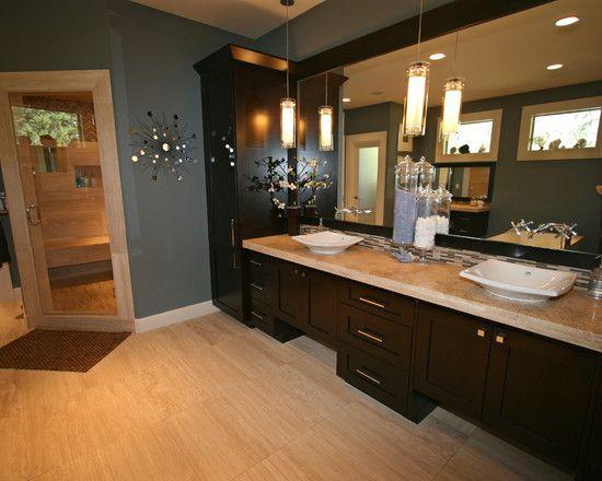 Bathroom Ideas Espresso Cabinets House Bathroom Contemporary Bathroom