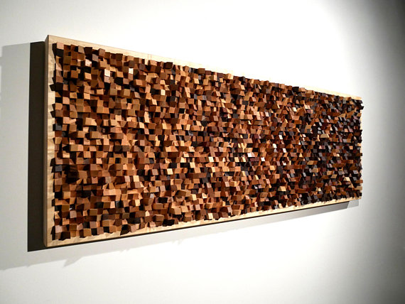 Contemporary Art Sculpture Mosaic Acoustic Panel Sound Etsy Large Wood Wall Art Acoustic Panels Wood Wall Art