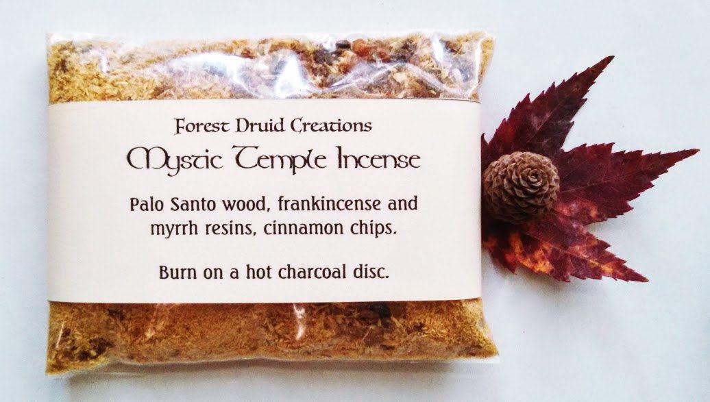 Mystic Temple Loose Incense, Sacred Herbal Smudge Blend