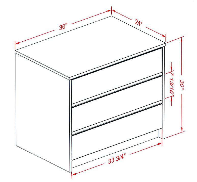 Standard Dresser Dimensions Google