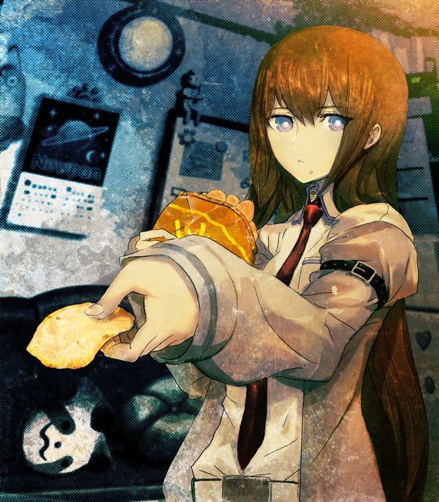 Photo of Daily Kurisutina (Day 35): Today Kurisu is offering you a potato chip. Do you accept?