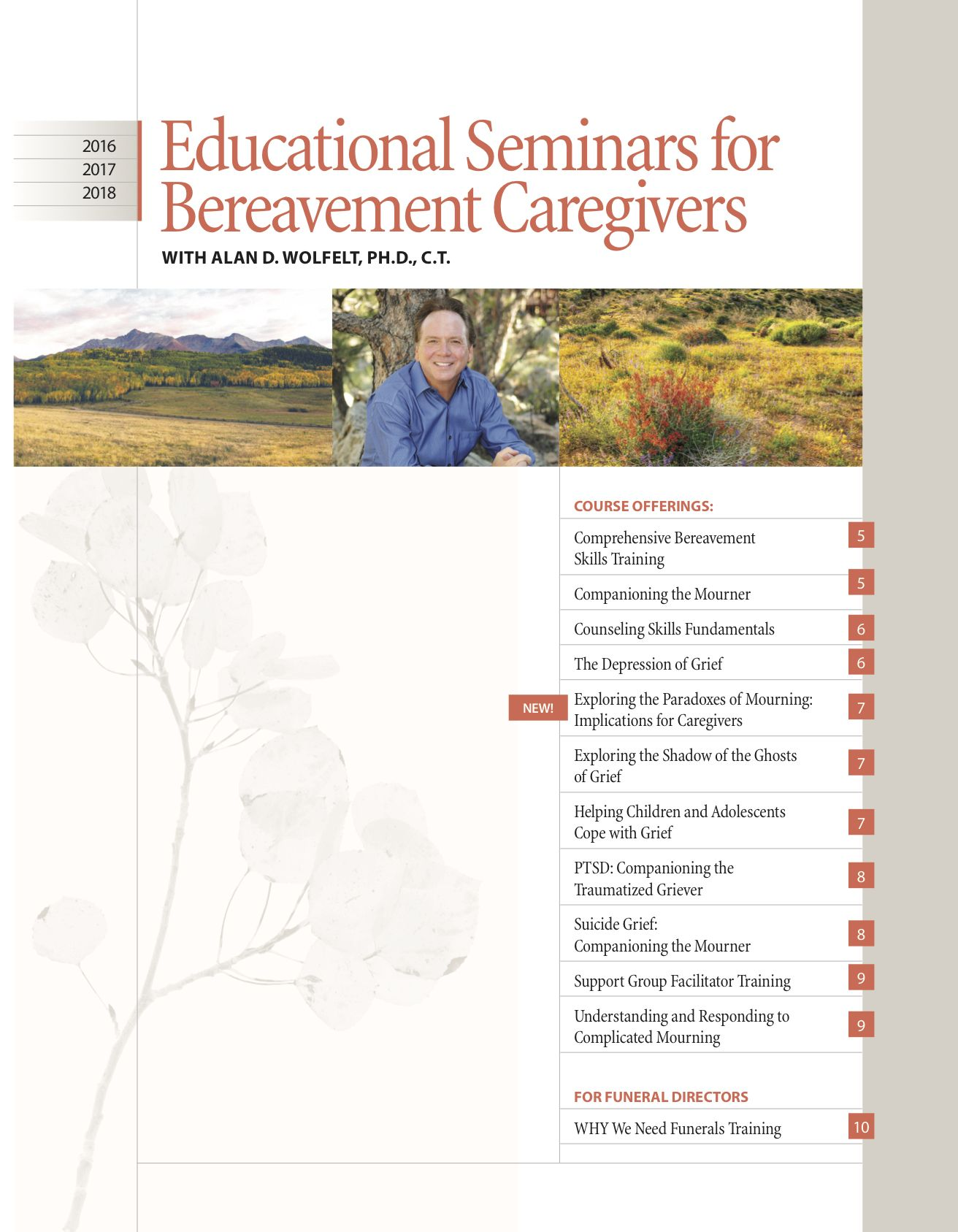 If you are grieving, want to support someone who is, or work with mourners in your role as bereavement caregiver, you've come to the right place.Our director, Dr. Alan Wolfelt, founded the Center for Loss more than 20 years ago to ...