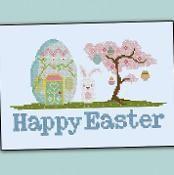 Happy Easter Bunny House - via @Craftsy