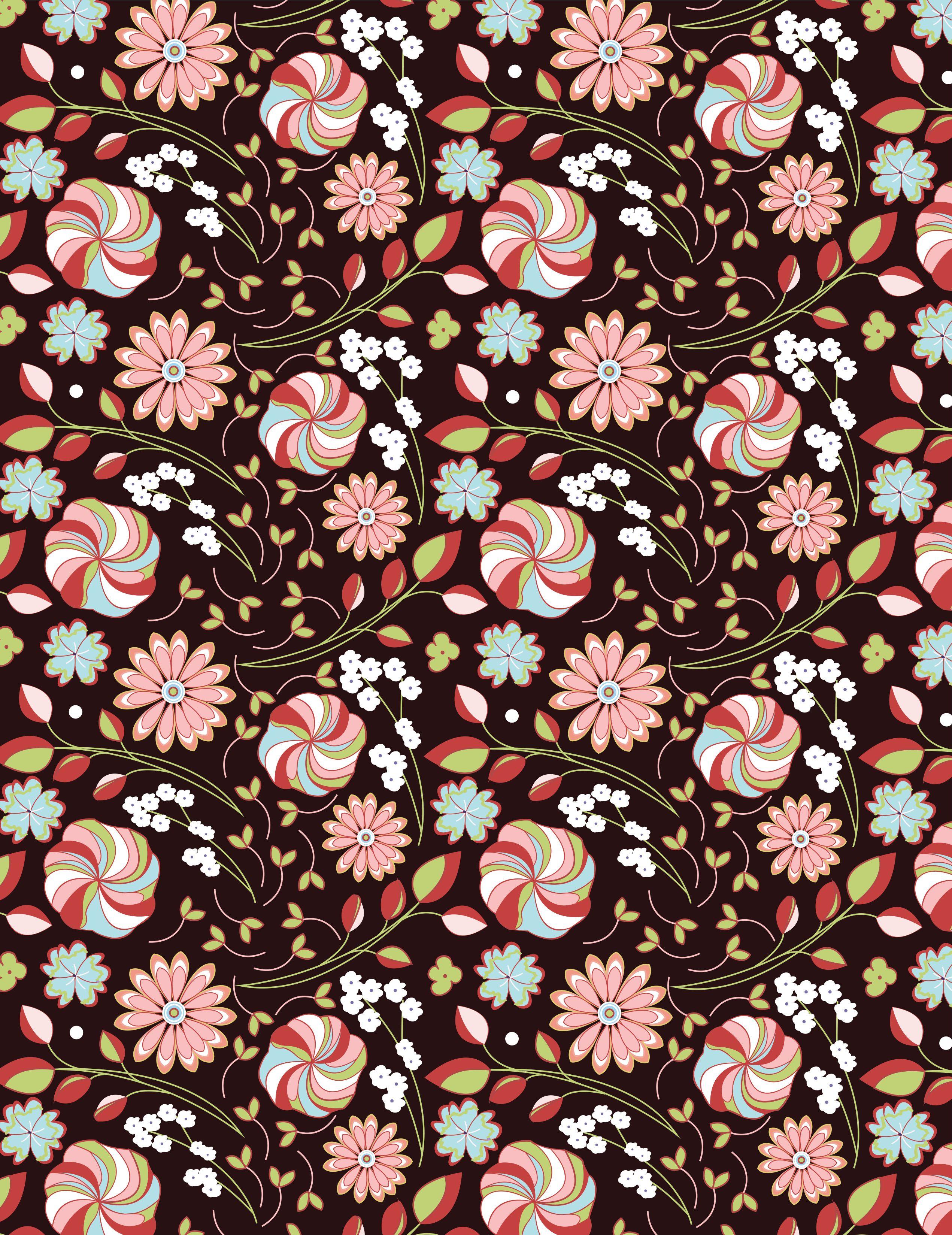 Wild garden pattern made by ack pinterest