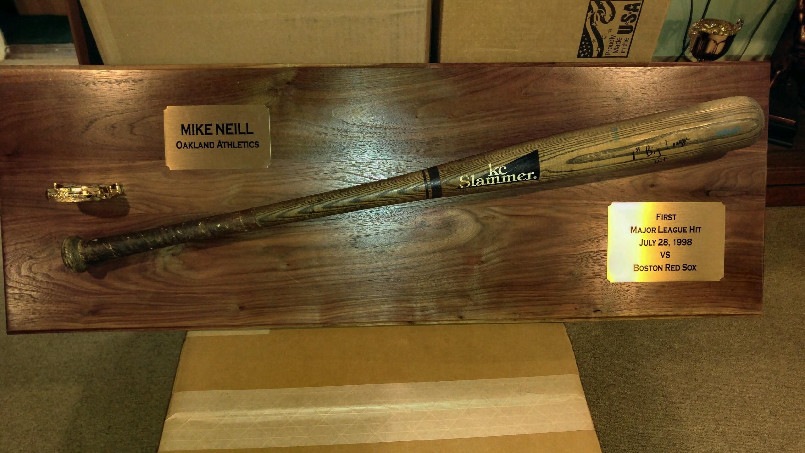 Major League Baseball Bat Display For Mike Neill Made Of Walnut And Finished In Satin Lacquer