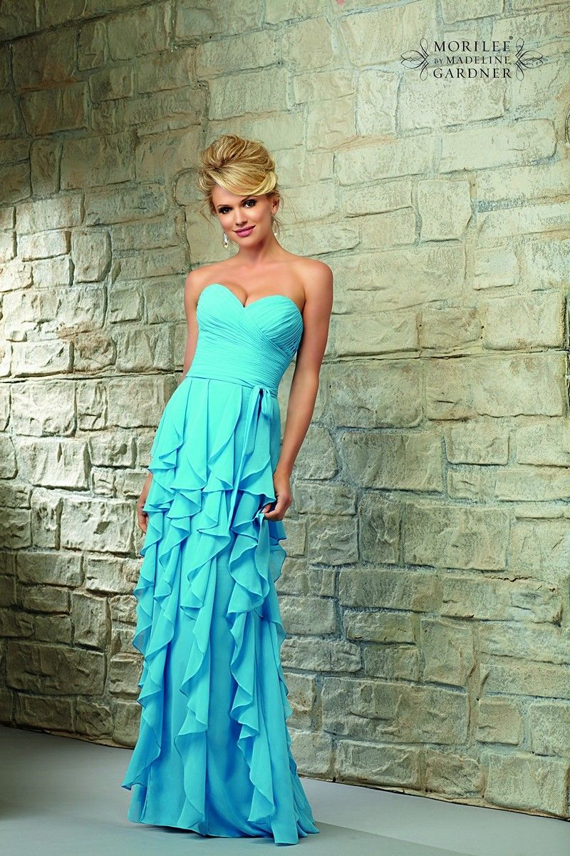 Mori lee bridesmaid dress this chiffon ensemble features a