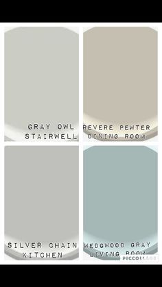Color Palate For Downstairs And Stairwell Benjamin Moore Colors Gray Owl Revere Pewter