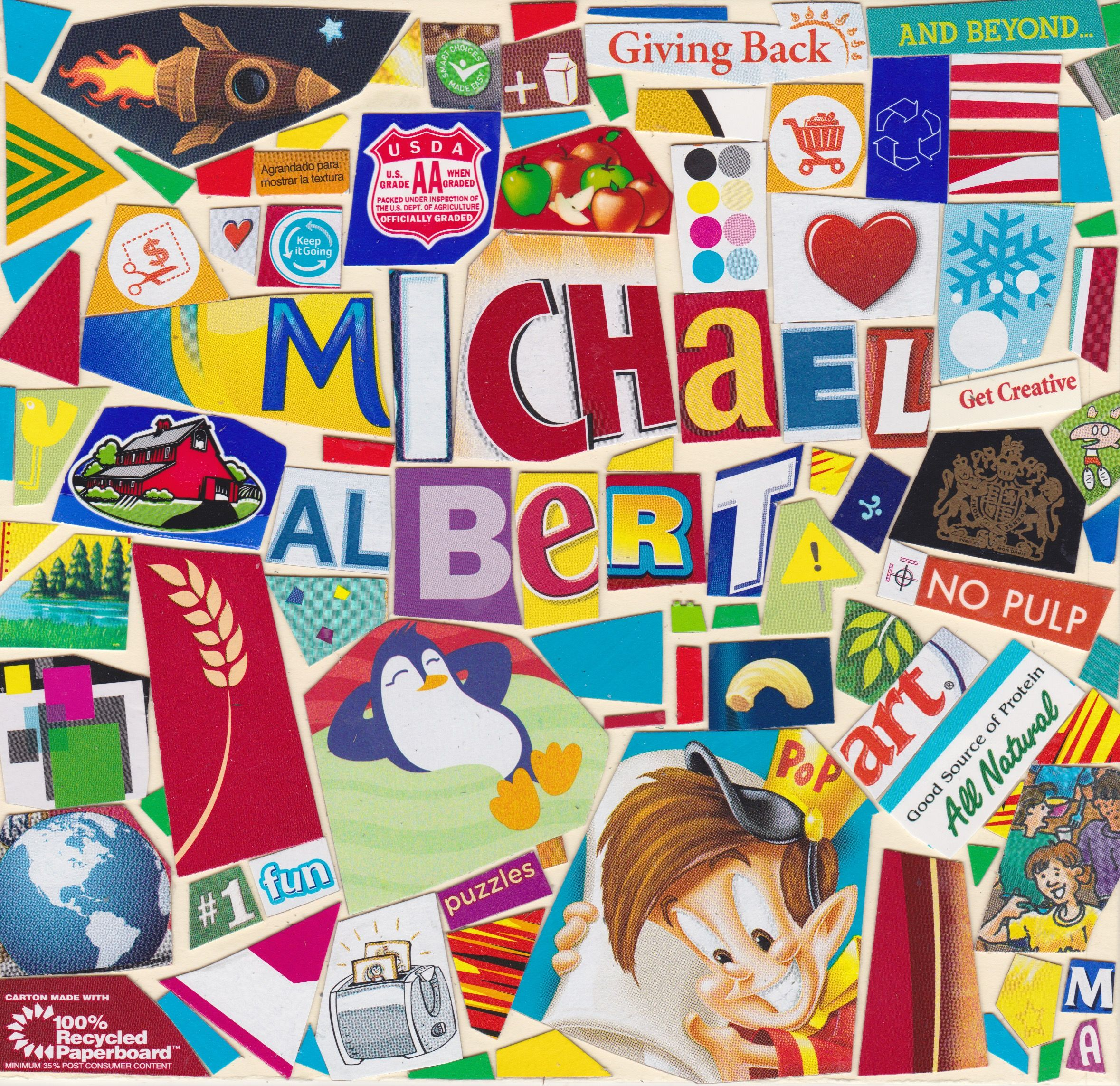 Name Collage 2016 Modern pop art, Pop art, Fun puzzles