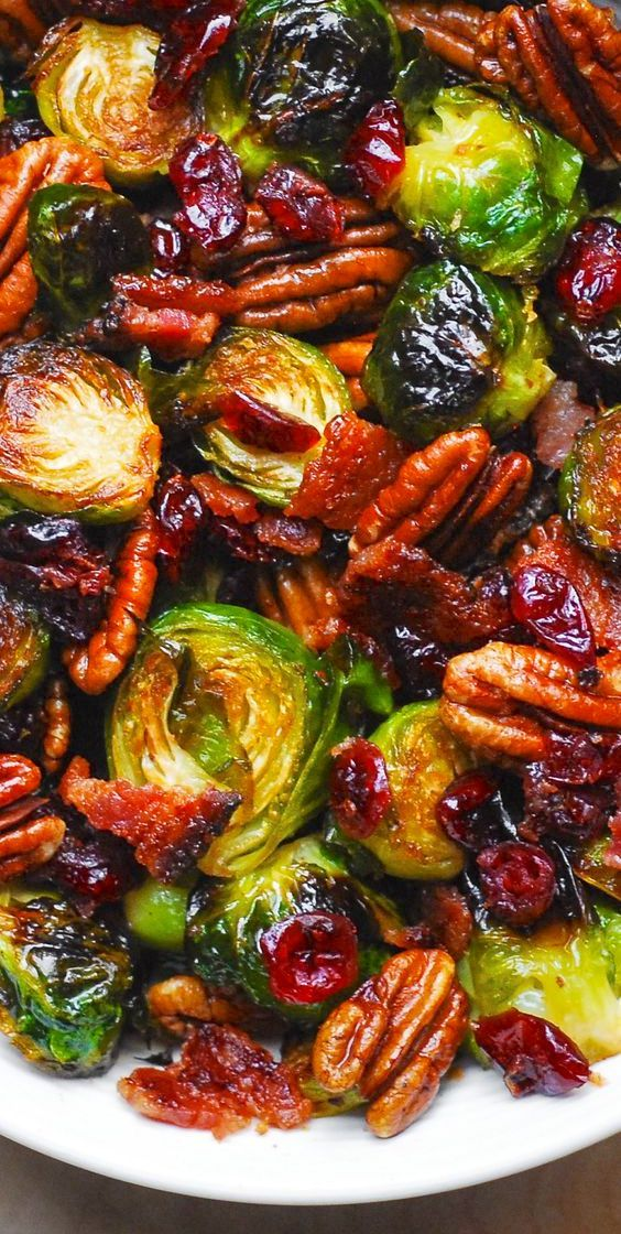 Holidays: Roasted Brussels Sprouts with Bacon, Toa