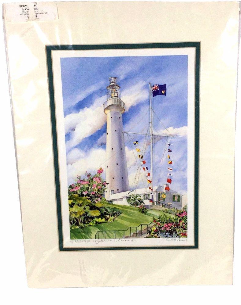 Carole Holding Bermuda Watercolor Print Gibbs Hill