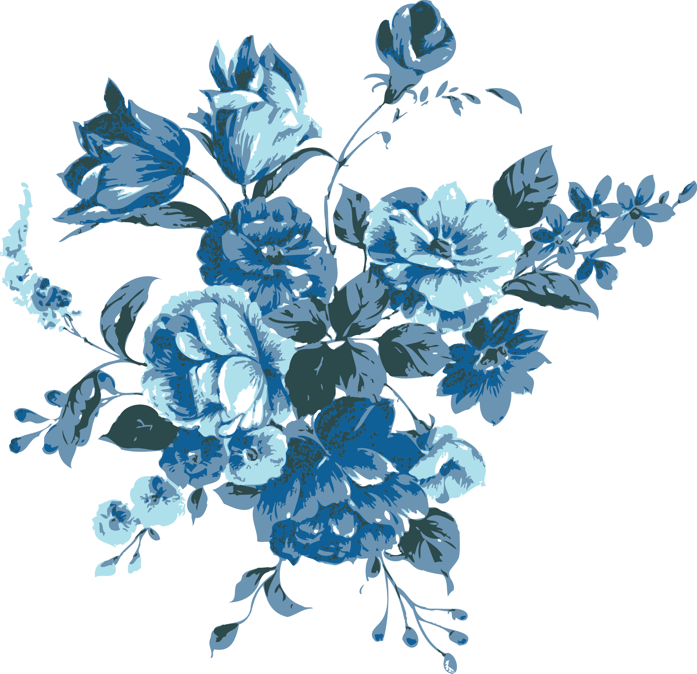 Blue Flowers Blue Flower Painting Blue Flowers Background Blue Flower Png