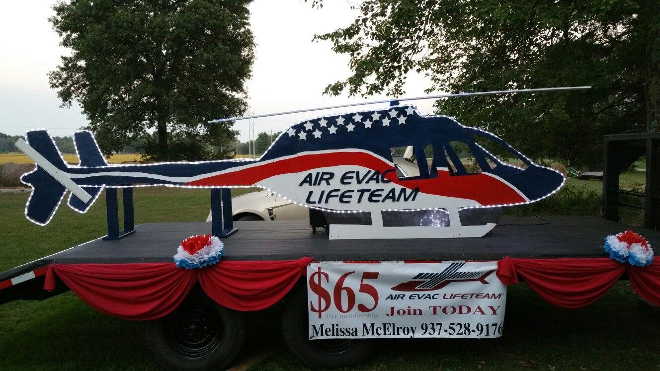 Air Evac Lifeteam base 89. BROWN COUNTY OHIO parade float