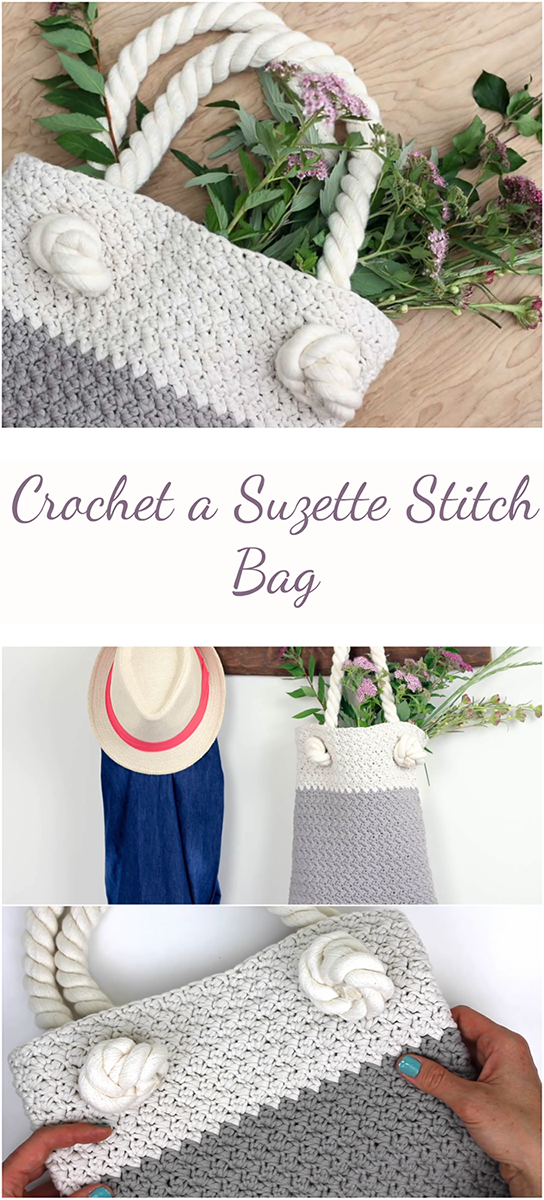 Suzette stitch bag step-by-step tutorial + Video - Randoff.com